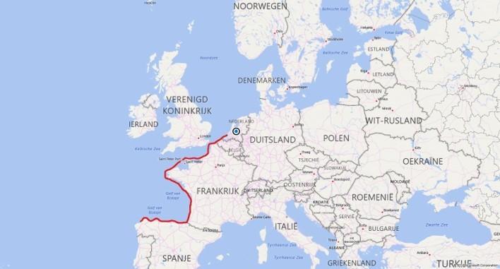 Routekaart europa